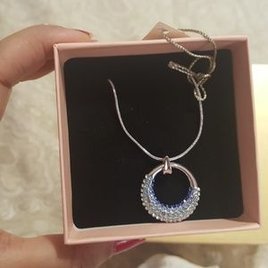 Ready to gift fashion blue pendant necklace NEW